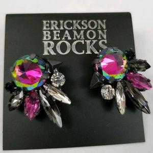 ERICKSON BEAMON PYRAMID/RAINBOW SWAROVSKI EARRINGS